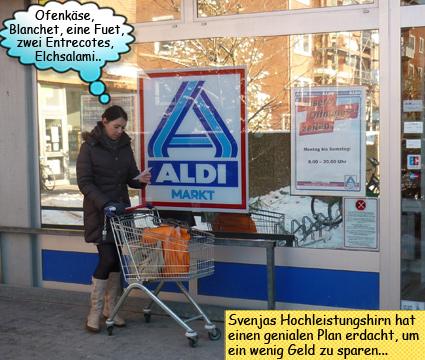 Svenja kauft bei ALDI