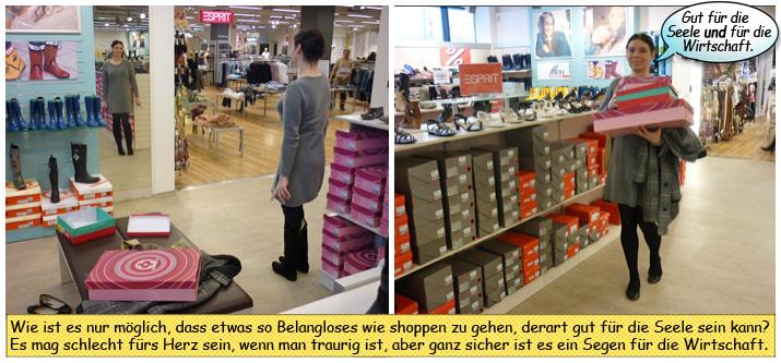 Svenja kauft sich Overknee Stiefel
