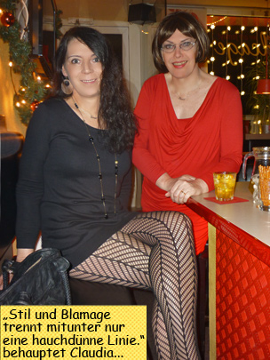 Svenja und Claudia im Birdcage