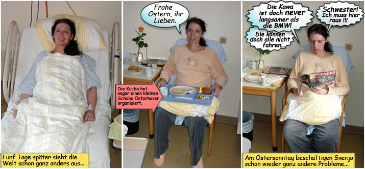 Svenja im Städtischen Krankenhaus Kiel