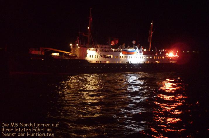 Hurtigruten MS Nordstjernen Abschied letzte Fahrt
