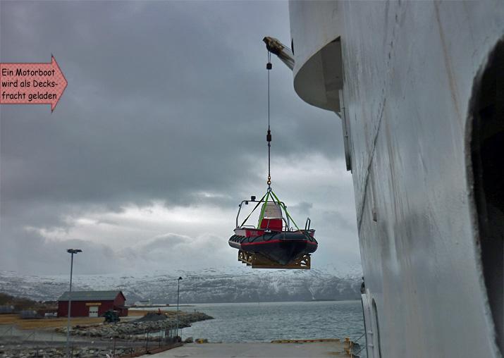 Decksladung Hurtigruten